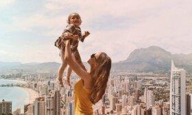Po skaudžių skyrybų su užsieniečiu iškeliavo į Aziją su mažamete dukra ant rankų
