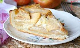 Obuolių pyragas su grietinės kremu: ar kada valgėte tokį?