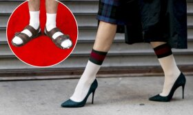 Įvaizdžio ekspertas atsakė, ar kojinės ir basutės – vis dar mados tragedija