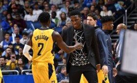"""NBA naktis: apsinuodijusio Sabonio netekę """"Pacers"""" sutriuškino varžovus Orlande"""