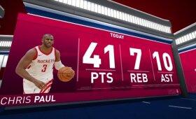 """Įspūdingiausios Paulo karjeros rungtynės atvėrė """"Rockets"""" duris į konferencijos finalą"""