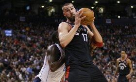 """Pratęsime """"Raptors"""" į priekį vedęs Valančiūnas padėjo pasiekti revanšą prieš """"Mavericks"""""""