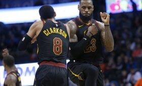 """NBA naktis: """"Cavaliers"""" parklupdė Westbrooko kariauną, """"Rockets"""" triumfavo Minesotoje"""