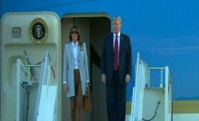 JAV prezidentas Trumpas su žmona sekmadienį atvyko į Helsinkį