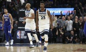 """Dramos kulminacija: """"Timberwolves"""" iškeitė Butlerį į Filadelfijos """"76ers"""""""