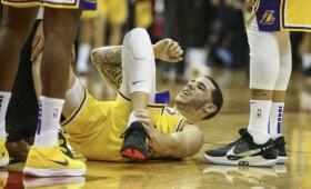 """""""Lakers"""" krečia traumų virusas – iškrito dar viena žvaigždė"""