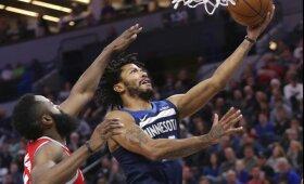 """NBA naktis: Hardenas sudaužė Rose\'o įžiebtas """"Timberwolves"""" viltis, """"Celtics"""" patyrė nesėkmę"""