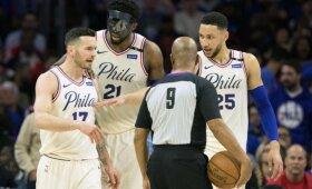 """""""76ers"""" – Rytų konferencijos pusfinalyje, """"Celtics"""" persvėrė serijos rezultatą"""