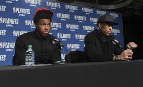 """Garsėjančių kalbų apie Casey atleidimą fone – Lowry ir DeRozano palaikymas """"Raptors"""" treneriui"""