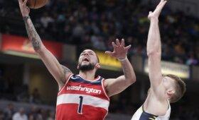 """Uraganinį varžovų spurtą atlaikę """"Pacers"""" ir Sabonis pratęsė pergalių seriją"""
