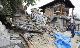 Žemės drebėjimas Japonijoje pasiglemžė tris gyvybes, sužeistųjų — šimtai