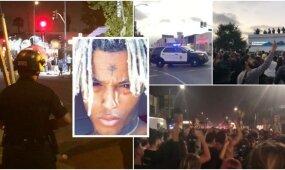 Nušauto reperio XXXTentacion fanai gatvėse sukėlė chaosą: nevaldomą minią policija tramdė guminėmis kulkomis