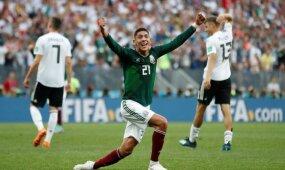 Pasaulio čempionė Vokietija sensacingai pralaimėjo Meksikos rinktinei