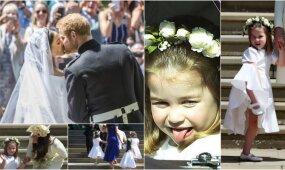 Vaikiška princesės Charlotte emocija karališkose vestuvėse pavergė milijonus širdžių