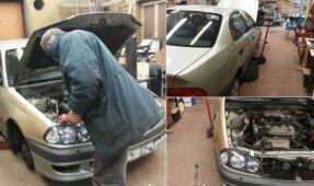 Universiteto lėšomis galimai remontuoja asmeninį automobilį'