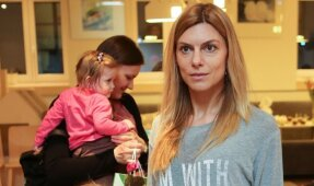 Laura Čepukaitė su dukra'