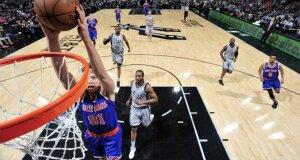 Susitikime su geriausiai besiginančia lygos ekipa puikiai žaidęs M. Kuzminskas pakartojo NBA rezultatyvumo rekordą