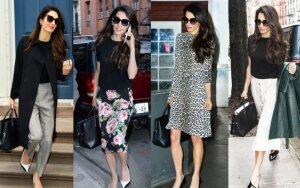 Amal Clooney stiliaus įkvėpta apranga kiekvienai darbo savaitės dienai (FOTO)