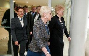 Irena Degutienė ir Dalia Grybauskaitė