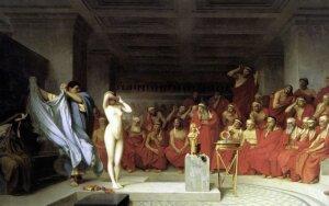 Frinė – graikų hetera, teista už apsinuoginimą