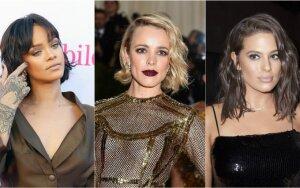 Garsenybių trumpų ir vidutinio ilgio plaukų šukuosenos, kurios įkvėps keistis