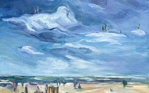 Tapytoja R. Eidukaitytė kviečia susipažinti su debesų istorijomis