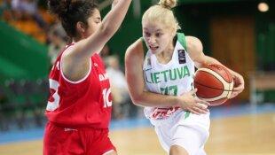 Europos U-16 mergaičių čempionatas. Lietuva - Danija