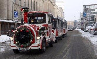 Pailsėjęs Kalėdų traukinukas vėl išriedės į sostinės gatves