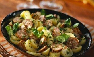 Bulvės su dešra