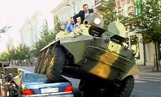 Vilnius mayor made headlines worldwide with his tank stund