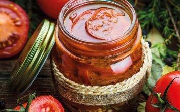 Slyviniai pomidorai ypatingame marinate