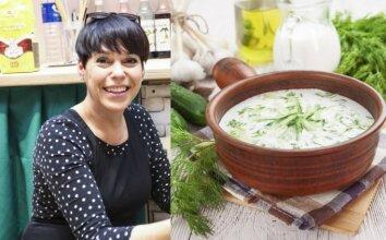 N. Marčėnaitė ir šalta česnakinė sriuba