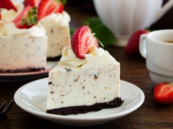 Maskarponės tortas su juodu šokoladu