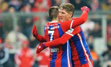 Franckas Ribery ir Bastianas Schweinsteigeris