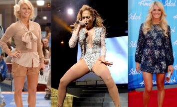 Jessica Simpson, Jennifer Lopez, Carrie Underwood - gali didžiuotis tobulo grožio kojomis.