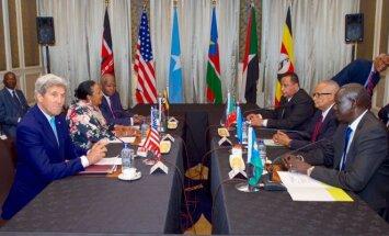 Johnas Kerry susitikimas su penkių regiono šalių užsienio reikalų ministrais Nairobyje