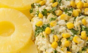 Vištienos ir ryžių mišrainė