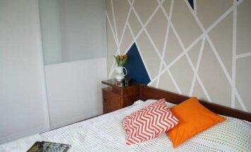 """Miegamasis <span style=""""color: #ff0000;"""">prieš ir po</span>: kaip įdomiai nusidažyti sieną"""