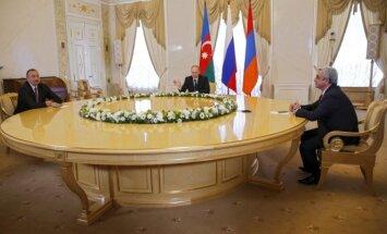 Vladimiras Putinas,  Seržas Sarksianas,Ilhamas Alijevas