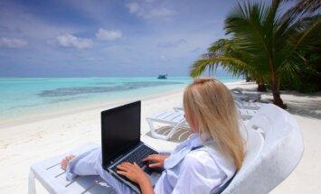 Darbas paplūdimyje