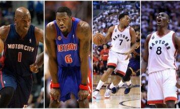 """NBA apžvalgininkai įžvelgia panašumų tarp čempioniškos 2004-ųjų """"Pistons"""" ir šių dienų """"Raptors"""" (Sacanpix nuotr.)"""