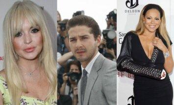 Lindsay Lohan, Shia LaBeoufas, Mariah Carey