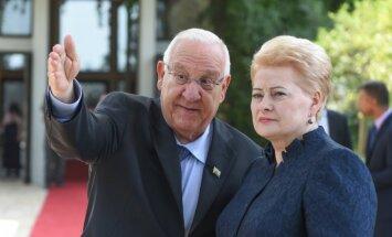 President Grybauskaitė meets with Israeli President Reuven Rivlin