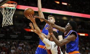 "NBA rungtynių ""Heat"" – ""Knicks"" mačo akimirka"
