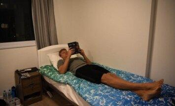 Mindaugas Kuzminskas ilsisi olimpinio kaimelio kambaryje