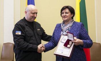 Loreta Graužinienė ir Oleksandras Turčinovas