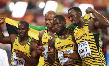 Nesta Carteris, Asafa Powellas, Nickelis Ashmeade'as ir Usainas Boltas