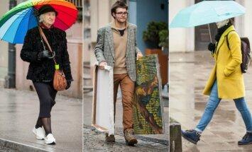Blogas oras – ne kliūtis: vilniečių apranga lietingą dieną nustebino