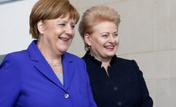 German Chancellor Angela Merkel and Lithuanian President Dalia Grubauskaitė