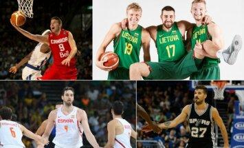 NBA lygoje – rekordinis užsieniečių skaičius (FIBA, Scanpix ir Vida Press nuotr.)